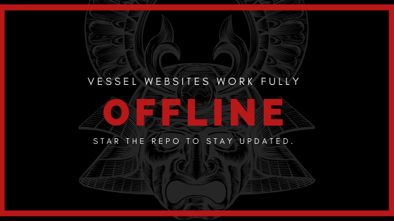 Vessel websites work fully offline