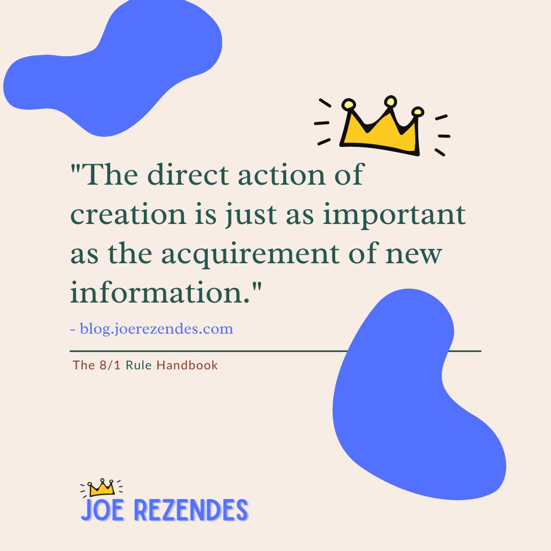 Joe Rezendes - the 8/1 rule